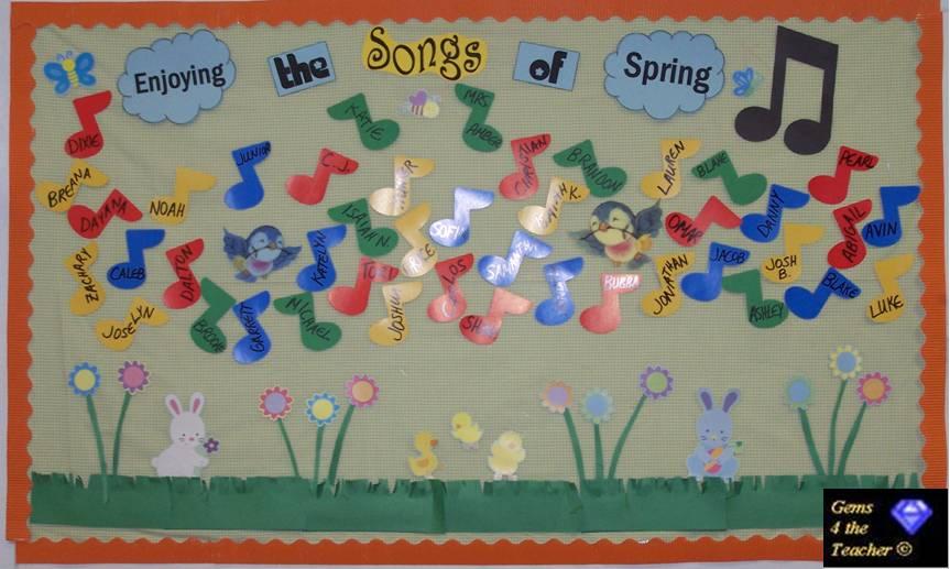 Classroom Decorations For April : April bulletin board ideas classroom decorations